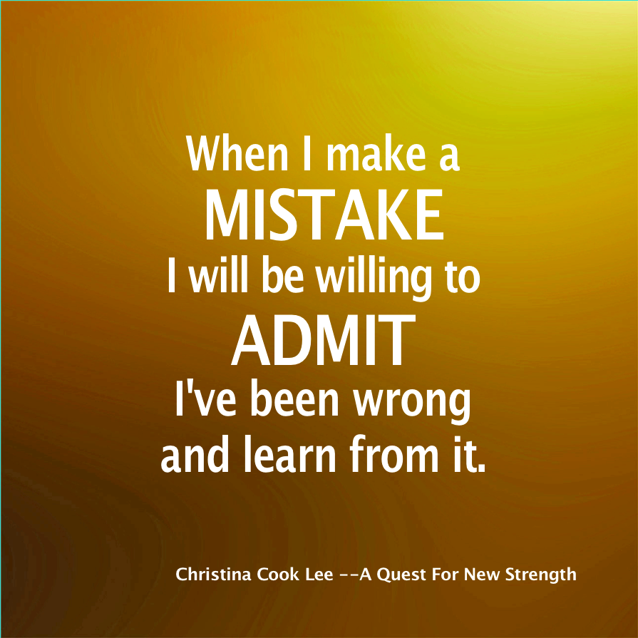 learning by our mistakes There is a popular adage in our society that goes something like this: forget the past, don't worry about the future we really do learn from our mistakes.